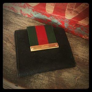 Gucci Wallet Black Nylon GG
